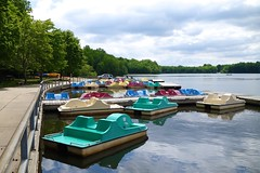 Paddleboat Rainbow (The Flying Inn) Tags: bear park trees nature water de pier boat dock pond colorful state paddle boating delaware paddleboat lums lumspond newcastlecounty infinitexposure