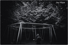 Lost Memories (Jayhopephotography) Tags: blackandwhite holland monochrome dark landscape swings den surreal spooky fantasy haag zwart wit zeldzaam jayhopephotographycom
