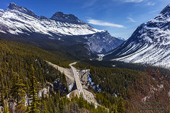 Cirrus Mountain And The Icefield Parkway (rebeccalatsonphotography) Tags: canada banff jasper np nationalpark canon 5dsr landscape scenery spring april rebeccalatsonphotography cirrus mountain icefield parkway highway