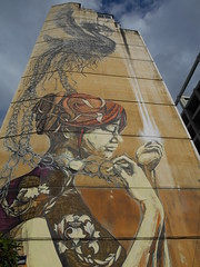 DAL and Faith47 (marialoukia) Tags: thessaloniki macedonia greece    street art building