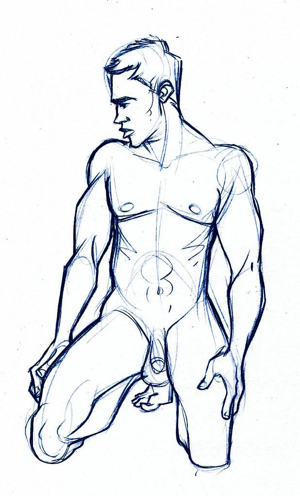 Male figure practice
