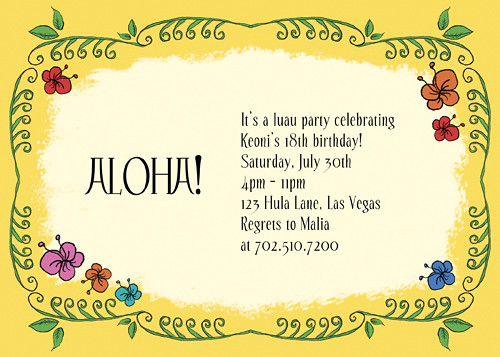 Luau Celebration Party, Hawaiian Party, Summer Party Invitation, Luau Party, Luau invitations, Polynesian luau invitations, tropical flowers luau invitations, Housewarming Party Invitation, Open House Invitations, Personalized Party Invitation, Birthday Invitation Designs, Fabulous Invitation Designs, DIY Party Design Invitations, Personalized Invitations