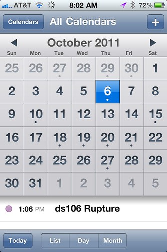 Be Prepared! October 6, 2011: The ds106 Rupture