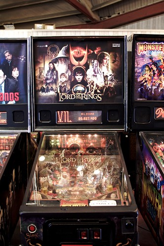 Lord of the Rings pinball machine.