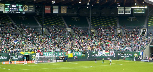 Timbers Army Shows Up EARLY