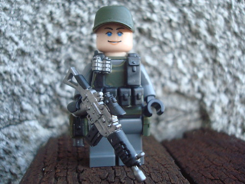 Custom minifig Chick with the gun.