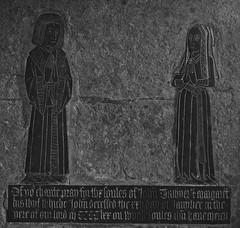 Brasses of John Tawyer d. 1470 and Wife (IanAWood) Tags: raw northamptonshire churchofengland raunds churchofstpeter northamptonshirechurches d3x simonjenkins walkingwithmynikon nikkorpce24f35 englandsthousandfinestchurches