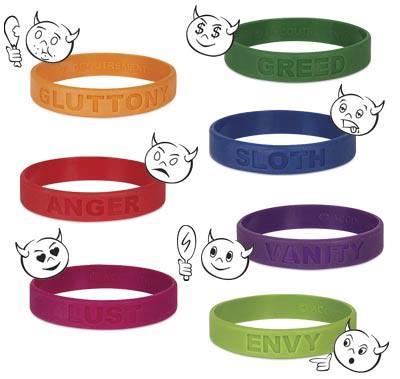 Seven Sins Wristbands