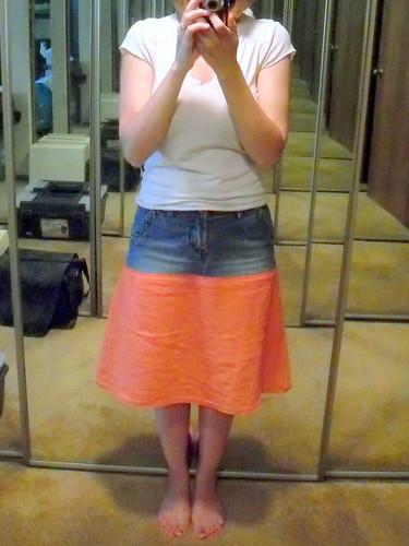 leftover skirt - front