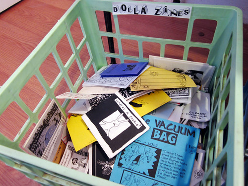 My zines made it to the Dolla Zines bin in Leo!