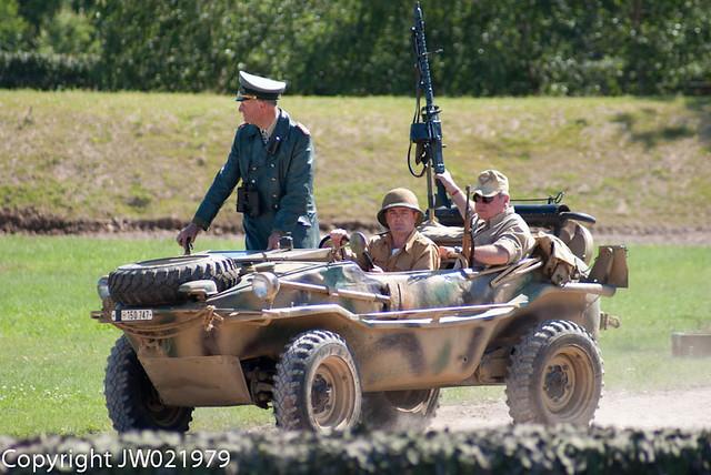 Rommel in a Schwimwagen