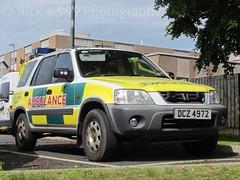 NIAS / DCZ 4972 / Honda CRV / Officer's Car (Nick 999) Tags: blue ireland car honda lights call ambulance service paramedics emergency northern crv 999 officers nias lightbar 4972 dcz