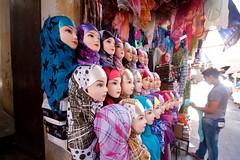 head scarves for sale (eatswords) Tags: northafrica headscarf hijab morocco fez souk medina vendor seller fes northernafrica headscarves