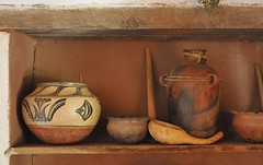 Still Life with Pueblo Pot (Ilhuicamina) Tags: newmexico santafe southwest history gourds ceramics pueblo pottery hispanic exhibits picnik golondrinas olla