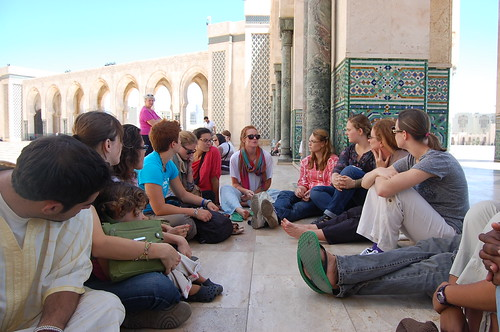 Students Listening to Talk on Moroccan Maymester