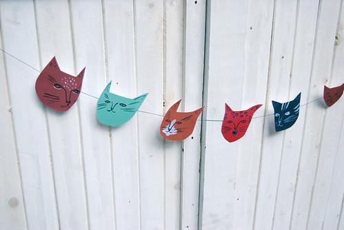 cat face banner