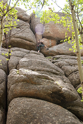 Climbing on Blair 3