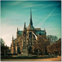 Notre  Dame est side (Preset Tead trend II) (in eva vae) Tags: city paris france art church gothic squared lightroom preset sbfmasterpiece inevavae ringexcellence sbfgrandmaster