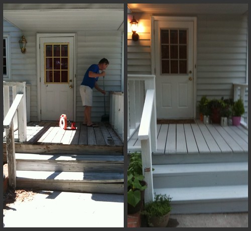 front of porch