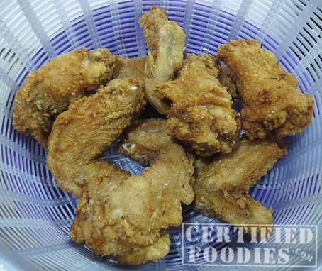 Deep fry the chicken 'til golden brown - CertifiedFoodies.com
