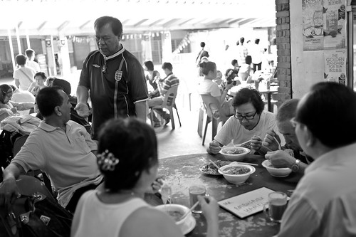 People having dinner at Tanjong Pagar railway station
