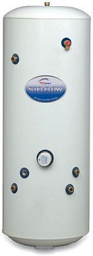 hot water cylinder-RM Unvented Cylinder 210ltr Indirect Mega Flow Stainless Steel 25 Year Guarantee