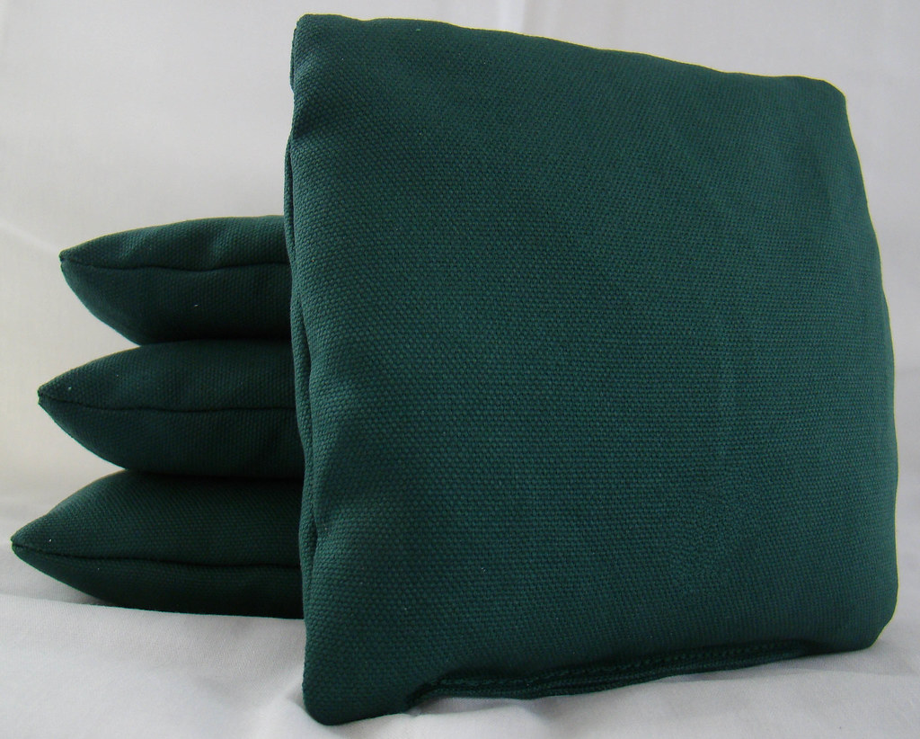 Hunter Green Cornhole Bags