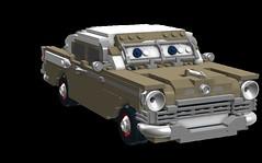 David Luderbaker - anthropomorphic 'Pixar Cars' - Studebaker President 1957
