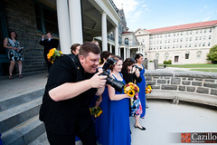 Gregory Cazillo Photographing a Wedding!