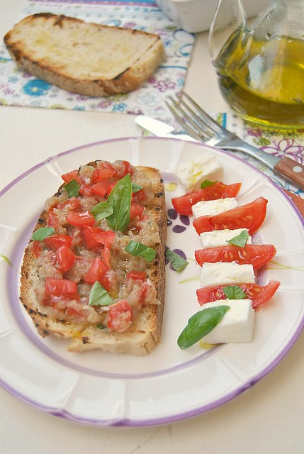 Bruschette with Eggplant Caviar