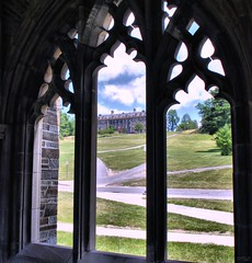 looking through a chapel window (frptlady....) Tags: summer university ivy hills ithaca