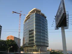 Business Centre Five Seas (Phnom) Tags: city bridge blue urban building glass beautiful architecture downtown russia crane south centre business don glassy cladding rostov rostovondon rostovnadonu businesscenter businesscentre toppedout fiveseas