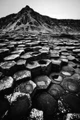 The Giant's Causeway (chris lazzery) Tags: blackandwhite northernireland giantscauseway countyantrim antrimcoast canonef1740mmf4l 5dmarkii bw30nd