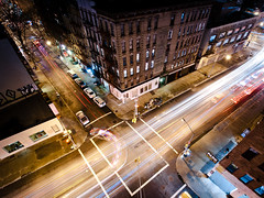 New York 2012 (John Erik) Tags: nyc longexposure nightphotography ny newyork night lights nikon nightshot manhattan soho wideangle nikkor streaks nolita lightstreaks d300 kenmarestreet 1024mmf3545g
