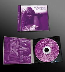 CD package: Duran Duran's All She Wants Is (Clanaty) Tags: doll purple duranduran cdcover diseogrfico cartula cdpackage grpahicdesign allshewantsis