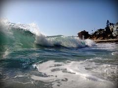 Breaking Point (Mikayla Luther Photography) Tags: ocean white beach water photography break underwater pacific wave foam laguna waterproof iphone lifeproof