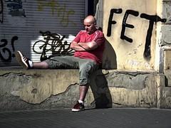 Street Relaxing (Kojotisko) Tags: street people streets streetphotography brno cc creativecommons czechrepublic streetphoto persons fujifilmfinepix photomatix thechallengefactory fujifilmfinepixsl1000 fujifilmfinepixsl1000kojotisko