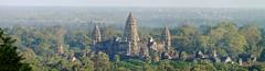 Angkor Wat, seen from Phnom Bakheng Panorama (hobgadlng) Tags: panorama temple cambodia angkorwat siemreap phnombakheng