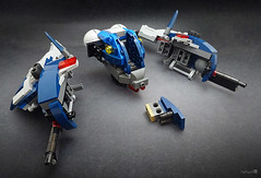 BaisCor KLE-P25 patrol hovership (Exploded View) (Morgan190) Tags: robot starwars fighter lego alt space contest police spaceship build patrol droid alternate hover m19 enforcer fbtb 75042 morgan19 morgan190