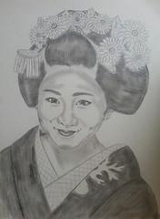 My Fav Maiko (GionGeiko (Fujiko)) Tags: drawings maiko geiko geisha gion fujiko zeichnungen satsuki