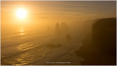 Australian Sunset, Australia (CvK Photography) Tags: 12apostles australia autumn canon coast color cvk fall greatoceanroad holiday nationalpark seascape sun sunset victoria princetown australi au twelve apostles seamist