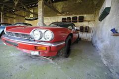 Hiding in Jochen Arden's shed: RHD XJ-S convertible (Pim Stouten) Tags: arden british car auto wagen pkw vhicule macchina burgzelem xj xjs xj27 jaguar jag convertible cabrio cabriolet