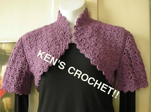 Slanted Shell Stitch Bolero by thatcrochetguy