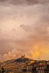 Sunset at St. Charles, Marseille (guerriere) Tags: france june juin marseille europe himmel archetecture nuages btiment stcharles eglise batiment saintcharles montagnes marseilles kirke copyright nikon200 nskottun ringexcellence