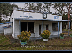 Tite's Refrigeration (ralphb58.) Tags: new blue plants white abandoned clock ice broken wales south australia nsw derelict refrigeration potplants tites brokenclock tahmoor