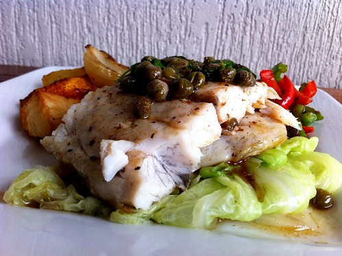 Barramundi with Brown Butter Caper Sauce by mjd-s