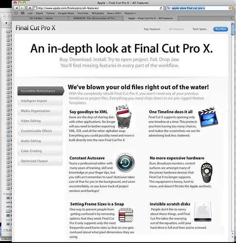 Honest Advertising: The true features of FCP