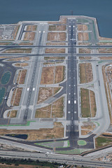 Runway 1L & 1R (buzz100ca) Tags: california airport san francisco sfo taxi international departure runway 1l overview ksfo 1r airlinersnet runways