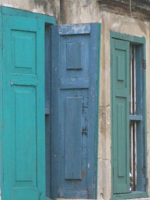 005 blue green shutter
