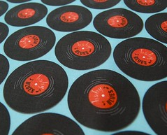 Project Selvage (nancykers) Tags: blue red fabric record spoonflower projectselvage